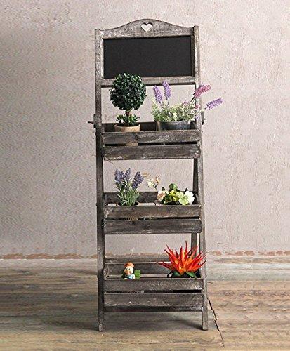 Pflanzenstandplatz Retro Massivholz Blumenständer geeignet für Outdoor Wohnzimmer Balkon | 3 Farbe (Farbe : Weiß, größe : H/103cm)