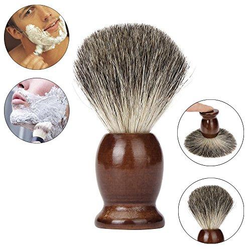 Yogogo Meilleurs Blaireau Rasage Brosse à Cheveux Hommes Pro Raser Barber Salon Bois Gérer Poils de Blaireau marron