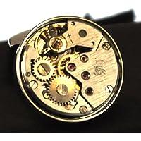 Cufflinks - Steampunk Rhodium Watch Movement