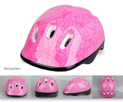 Kid's / Child Helmet for Cycling /Skateboard / Bike Helmets / BMX / Dry Slope Protective Gear, Cute Cartoon Helmets with Strap for Girls and Boys Suitable 3-8 Years Old from Global I Mall