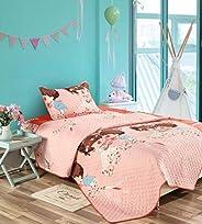 Kids Comforter3 PCs Set-Pink/Red