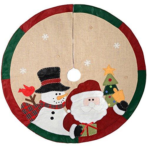 WeRChristmas–Figura de muñeco de nieve decoración para base de árbol de Navidad...