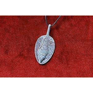 Amulett aus einem Teelöffel Friesenmuster - Schmuck Silberbesteck