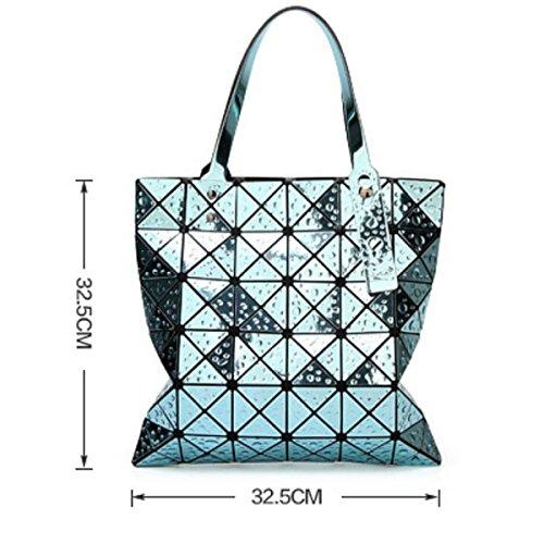 Women's Ling Ge Geometrische Tasche Falten Handtasche Schultertasche Gold