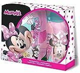 Disney WD19449 Minnie Maus Brotdose und Aluminium Trinkflasche Set