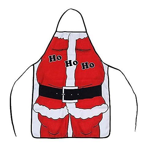 Alxcio Weihnachten Weihnachtsmann-Schürze Neuheit-Geschenk für Küche-im Garten arbeitenkochen-Versorgungsmaterialien Backen-Chef-Schürze Größe 50 * 70cm