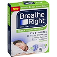 Breathe Right, Nasal Strips Extra Clear for Sensitive skin, 26 strips (3 pack) by Breathe Right preisvergleich bei billige-tabletten.eu