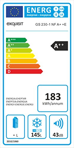 Exquisit GS230-1NFA++ Stand-Alone Schublade weiß 145 L A++ - Gefrierfach (145 L, 12 kg/24h, N-T, Enteisungssystem, A++)