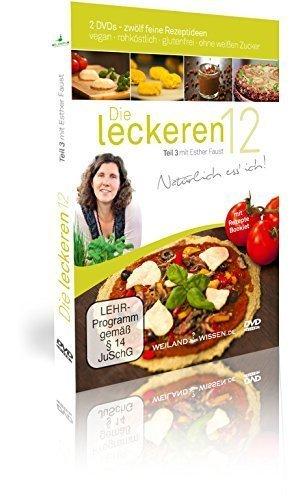 Rohkost Rezepte von Esther Faust: Die leckeren 12, Teil 3, vegane Rohkost, Rohköstlichkeiten, glutenfrei und ohne weißen Zucker, DVD, Booklet Victoria-torte