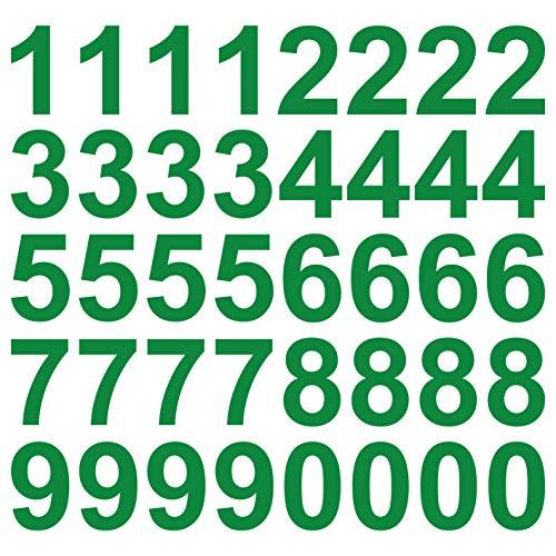 Grünes Glas-türen (kleb-Drauf® | 40 Zahlen, Höhe je 10 cm | Grün - glänzend | Wandtattoo Wandaufkleber Wandsticker Aufkleber Sticker | Wohnzimmer Schlafzimmer Kinderzimmer Küche Bad | Deko Wände Glas Fenster Tür Fliese)