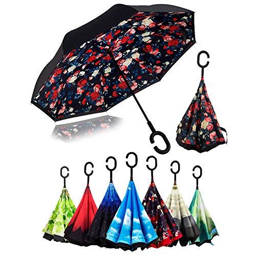 Paraguas Invertido, Sol lluvia Paraguas,Parasol Protección