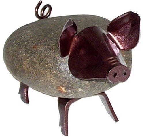 Francis Metall Stein Eisen Skulptur Pig Medium, von Francis Metall Funktioniert - Francis Stein