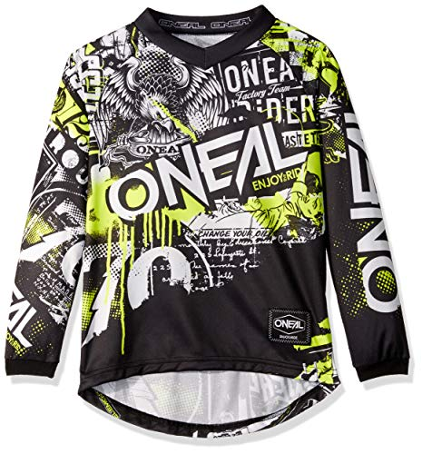 ELEMENT Youth Jersey ATTACK black/hi-viz S