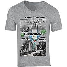 teesquare1st Guatemala Camiseta Gris para Hombre de Algodon
