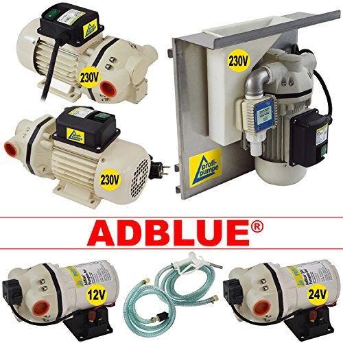 AdBlue®-Pumpe 24V Harnstoffpumpe Urea Pumpe Betankungsset Membranpumpe Chemiepumpe selbstansaugend leistungsstarker Elektromotor mit Kupferwicklung mit extra-Ersparnis!