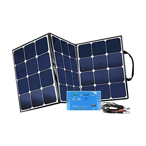 Offgridtec© FSP 2 Ultra 120W faltbares Solarrmodul mit integrierter Aufständerung und Laderegler mit USB - Koffer Solar