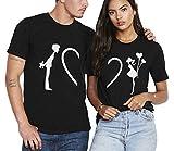 Couple Shirt pour Amoureux Coton Homme Femme Tees Shirts 2 Pcs Logo T-Shirt...