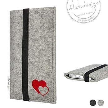 Handy Hülle COIMBRA – Filz Handy Tasche Herzen