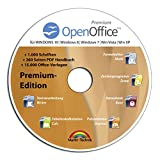 Open Office Premium Edition CD DVD 100% kompatibel zu Microsoft® Word® und Excel® -für Windows 10-8-7-Vista-XP