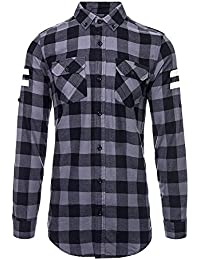 Camisa Criminal Damage Checked (Negro/Gris Carbón)