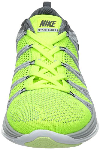 Nike Flyknit Lunar2, Scarpe sportive, Uomo volt black wolf grey dark grey 700