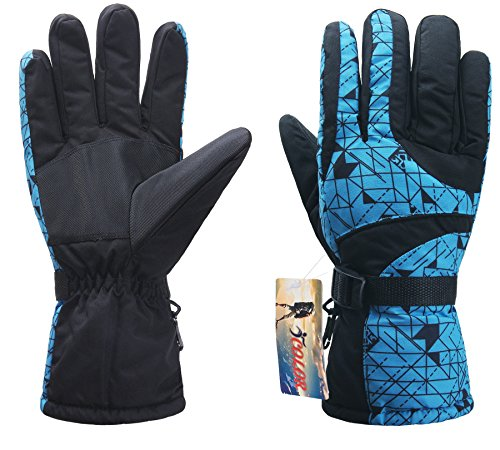 ICOLOR Snowboarding Gloves Winter Warm Thermal Ski Golve for Outdoor Sports Skiing Sledding Skidproof Warm Mitts for Teenagers Adults (Style-08)