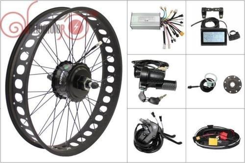 48V 500W 190mm Bafang Freehub Cassette Rear 26inch Wheel Fat Tire Ebike Conversion Kit, LCD, Controller, Throttle, Brakes