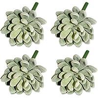 LJY 4 piezas realista Artificial Succulent cactus invernadero pequeñas plantas Unpotted para la decoración del jardín