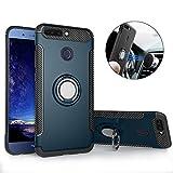 Mosoris Hülle für Huawei Honor 8 Pro, Honor 8 Pro Handyhülle mit Ring Kickstand, Schutzhülle mit 360 Grad Drehbarer Handyhalterung Geeignet für Auto Magnet Ring für Huawei Honor 8 Pro, Dunkelblau