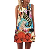 RAYWIND Neueste Kleid f¨¹r Frauen beil?ufige Sommer Kleider mit Blumenmuster