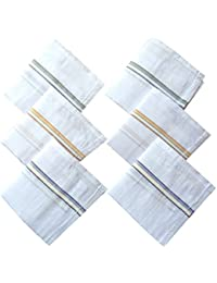 Indiacrafts High Quality Cotton Handkerchiefs Set of 6 Piece