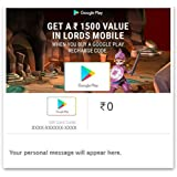Get Upto 1500 Value in Lords Mobile||Google Play Gift Code - Digital Voucher