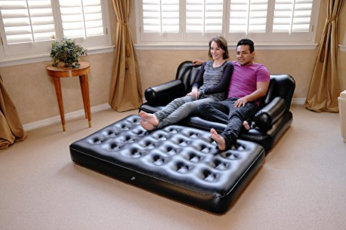 Bestway 5 In 1 Inflatable Sofa Air Bed Couch With Free Electric Pump And 2 Air Pillow
