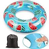 Schwimmring Aufblasbare Rettungsring Automatische Aufblasbare Schwimmring Schwimmausrüstung Party Strand Sommer Wasser Spielzeug Kinder Erwachsene (watermenlon, 60cm)