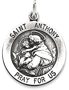 IceCarats Designer Schmuck Sterling Silber Antiqued heiligen Antonius Medaille