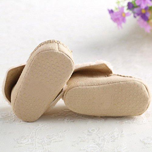 BZLine® Baby Mädchen weichen Sohle Krippe warme Baumwolle Stiefel Beige