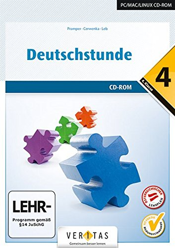 Deutschstunde - NMS / HS / AHS: 4. Klasse - Übungs-CD-ROM mit Lösungen Allgemeine Grammatik