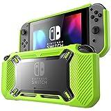 Custodia Mumba Nintendo Switch, [Heavy Duty] Profilo sottile [Snap on] Custodia rigida per Nintendo Switch 2017 (Nero/Verde)