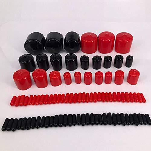 Ochoos D1,5 mm bis D11 mm Endkappe PVC Kunststoff Kabel Gewinde Abdeckung Vinyl Endkappe PVC Gummi Stahlrohr Rohr Schutz Wasser (Gummi-rohr-abdeckung)