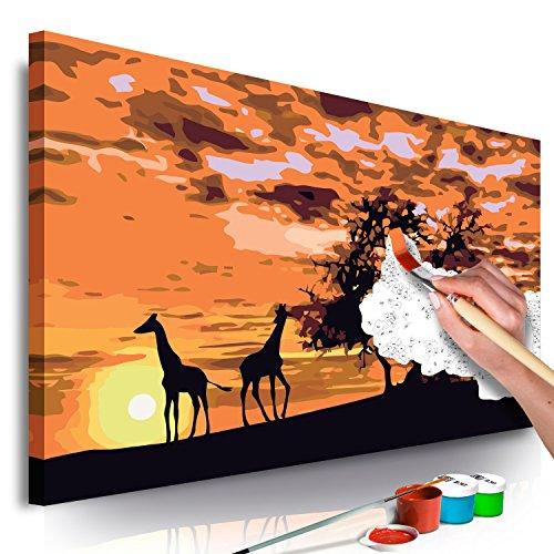 murando - Malen nach Zahlen Afrika 60x40 cm Malset mit Holzrahmen auf Leinwand für Erwachsene Kinder Gemälde Handgemalt Kit DIY Geschenk Dekoration n-A-0368-d-a