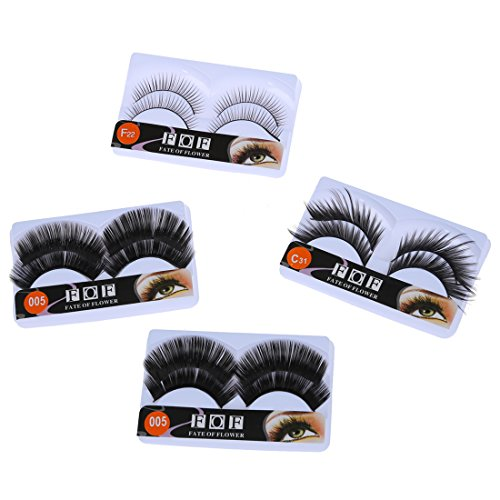 TOOGOO(R) 8 Paires Faux Cils Longues Yeux pr Maquillage 4 modeles
