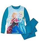 Disney Die Eiskönigin Elsa & Anna Mädchen Pyjama - türkis - 128