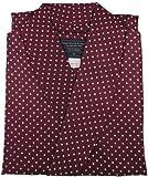 Robe de Chambre en Soie - Bordeaux à Pois - Homme - Peignoir