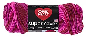 Red Heart E300.0786 Super Saver Economy Yarn, Candy