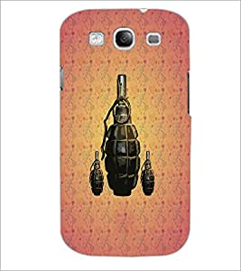 PrintDhaba Hand Granade D-3427 Back Case Cover for SAMSUNG GALAXY S3 (Multi-Coloured)