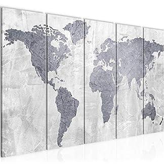 Quadro Mappa – XXL Immagini Murale Stampa su Tela Decorazione da Parete Pronte per l'applicazione – 104355c