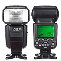 Andoer AD-980II Flash Speedlite E-TTL HSS 1/8000s Master Slave GN58 for Canon 5D Mark III/5D Mark II/6D/5D/7D/60D/50D/40D/30D/700D/100D/650D/600D/550D/500D/450D DSLR Camera