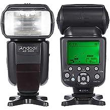 Andoer AD-980 II E-TTL HSS 1 / 8000s GN58 Maestro Esclavo Flash Speedlite para Canon 5D Mark III / 5D Mark II / 6D / 5D / 7D / 60D / 50D / 40D / 30D / 700D / 100D / 650D / 600D / 550D / 500D / 450D