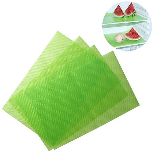 Hervorragende Kommerzielle Kühlschrank (OUNONA OUNONA 4pcs Kühlraum-Auflage Antibakterielle Antifouling-Mehltau-Feuchtigkeits-Absorptions-Auflage-Matten-Tabelle (transparentes Grün))