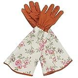 Guanti da giardinaggio in pelle con spina prova Garden guanto per donna con maniche lunghe in poliestere stampa floreale per proteggere le braccia fino al gomito by Jian ya NA
